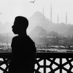James Baldwin against the mosques of Istanbul, Turkey. Credit - Sedat Pakay