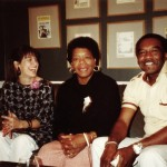 Karen Thorsen. Dr. Maya Angelou. William Miles, Co-Producer. Credit - DKDmedia