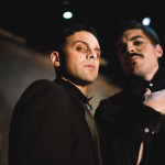 Photo by Joe Mazza, Brave Lux. (From L) Jeremy Trager as Hastings, and Mike Steele as Rivers.