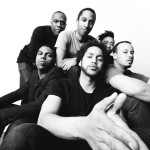 Photo by Joe Mazza, Brave Lux. The ensemble of THE HAIRY APE. Clockwise from left: Breon Arzell, Bradford Stevens, Michael Turrentine, Rashaad Hall, Tony Santiago, and Julian Parker