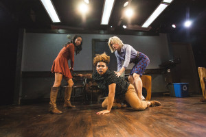 Photo: Joe Mazza, Brave Lux. Pictured (left to right): Aurora Adachi-Winter, Melissa DuPrey, DeChantel Kosmatka.